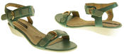 Womens Ladies Elisabeth Leather Flat Strappy Fashion Sandals Thumbnail 5