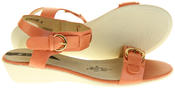 Womens Ladies Elisabeth Leather Flat Strappy Fashion Sandals Thumbnail 7