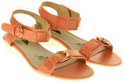 Womens Ladies Elisabeth Leather Flat Strappy Fashion Sandals Thumbnail 8