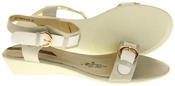 Womens Ladies Elisabeth Leather Flat Strappy Fashion Sandals Thumbnail 10