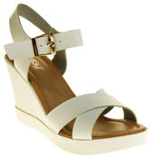 Womens Ladies Betsy Faux Leather Peep-Toe Wedge High Heel Strappy Sandals Thumbnail 12