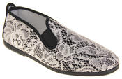 Womens Ladies Flossy Casual Canvas Espadrille Pumps Thumbnail 2