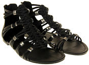 Womens Ladies Rocket Dog Black Gladiators Faux Leather Open Toe Strappy Sandals Thumbnail 5