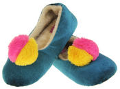 Womens Ladies Dunlop Winter Synthetic Fur Comfort Warm Pom Pom Slippers Thumbnail 6