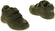 Boys Gola Black White Leather Belmont Active Trainers Infant Thumbnail 4