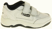 Boys Gola Black White Leather Belmont Active Trainers Infant Thumbnail 5