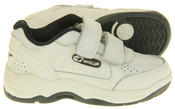 Boys Gola Black White Leather Belmont Active Trainers Infant Thumbnail 6