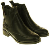 Womens Ladies Betsy Synthetic Leather Waterproof Ankle High Boots Thumbnail 5