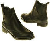 Womens Ladies Betsy Synthetic Leather Waterproof Ankle High Boots Thumbnail 6