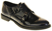 Womens Ladies Keddo Leather Double Buckle Formal Office Work Monk Shoes Thumbnail 2