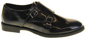 Womens Ladies Keddo Leather Double Buckle Formal Office Work Monk Shoes Thumbnail 3