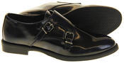 Womens Ladies Keddo Leather Double Buckle Formal Office Work Monk Shoes Thumbnail 4