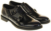 Womens Ladies Keddo Leather Double Buckle Formal Office Work Monk Shoes Thumbnail 5