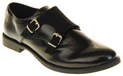 Womens Ladies Keddo Leather Double Buckle Formal Office Work Monk Shoes Thumbnail 7