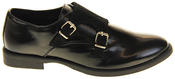 Womens Ladies Keddo Leather Double Buckle Formal Office Work Monk Shoes Thumbnail 8