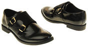 Womens Ladies Keddo Leather Double Buckle Formal Office Work Monk Shoes Thumbnail 11