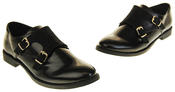 Womens Ladies Keddo Leather Double Buckle Formal Office Work Monk Shoes Thumbnail 12
