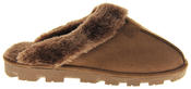 womens Ladies Winter Synthetic Fur Warm Comfort Mule Slippers Thumbnail 3