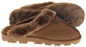 womens Ladies Winter Synthetic Fur Warm Comfort Mule Slippers Thumbnail 4