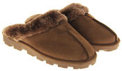 womens Ladies Winter Synthetic Fur Warm Comfort Mule Slippers Thumbnail 5