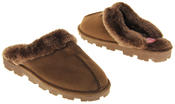 womens Ladies Winter Synthetic Fur Warm Comfort Mule Slippers Thumbnail 6