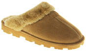 womens Ladies Winter Synthetic Fur Warm Comfort Mule Slippers Thumbnail 7