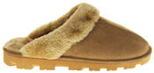 womens Ladies Winter Synthetic Fur Warm Comfort Mule Slippers Thumbnail 8