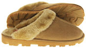 womens Ladies Winter Synthetic Fur Warm Comfort Mule Slippers Thumbnail 9