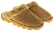 womens Ladies Winter Synthetic Fur Warm Comfort Mule Slippers Thumbnail 10
