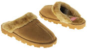womens Ladies Winter Synthetic Fur Warm Comfort Mule Slippers Thumbnail 11