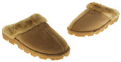 womens Ladies Winter Synthetic Fur Warm Comfort Mule Slippers Thumbnail 12