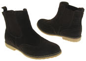 Womens Ladies Keddo Genuine Suede Brogue Style Ankle Boots Thumbnail 5