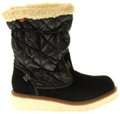 Womens Ladies Rocket Dog Leather Faux Fur Lined Mid Calf Elasticated Boots Thumbnail 3