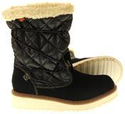 Womens Ladies Rocket Dog Leather Faux Fur Lined Mid Calf Elasticated Boots Thumbnail 4