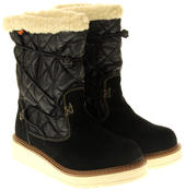 Womens Ladies Rocket Dog Leather Faux Fur Lined Mid Calf Elasticated Boots Thumbnail 5