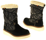 Womens Ladies Rocket Dog Leather Faux Fur Lined Mid Calf Elasticated Boots Thumbnail 6