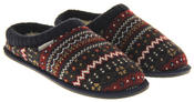 Mens Dunlop Memory Foam Comfy Warm Fleece Mule Slippers Thumbnail 5