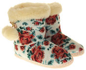 Womens Ladies Fleece Lined Pom Pom Warm Soft Faux Fur Cosy Comfort Slipper Boot Bootie Thumbnail 5