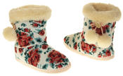 Womens Ladies Fleece Lined Pom Pom Warm Soft Faux Fur Cosy Comfort Slipper Boot Bootie Thumbnail 6