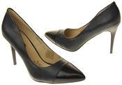 Womens Ladies Elisabeth Stilleto Court Shoes Thumbnail 6