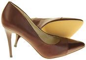 Womens Ladies Elisabeth Stilleto Court Shoes Thumbnail 9