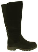 Womens 878138/02 Faux Leather Wool Lined Boots Thumbnail 3