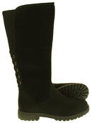 Womens 878138/02 Faux Leather Wool Lined Boots Thumbnail 4
