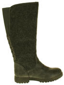 Womens 878138/02 Faux Leather Wool Lined Boots Thumbnail 8