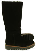 Womens 878175/10 Suede Leather Wool Lined Boots Thumbnail 4