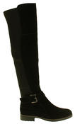 Womens Ladies Genuine Suede Tall Warm Above The Knee Boots With Zip Thumbnail 3