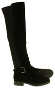 Womens Ladies Genuine Suede Tall Warm Above The Knee Boots With Zip Thumbnail 4