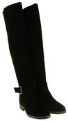 Womens Ladies Genuine Suede Tall Warm Above The Knee Boots With Zip Thumbnail 5