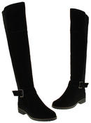 Womens Ladies Genuine Suede Tall Warm Above The Knee Boots With Zip Thumbnail 6