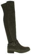 Womens Ladies Genuine Suede Tall Warm Above The Knee Boots With Zip Thumbnail 8